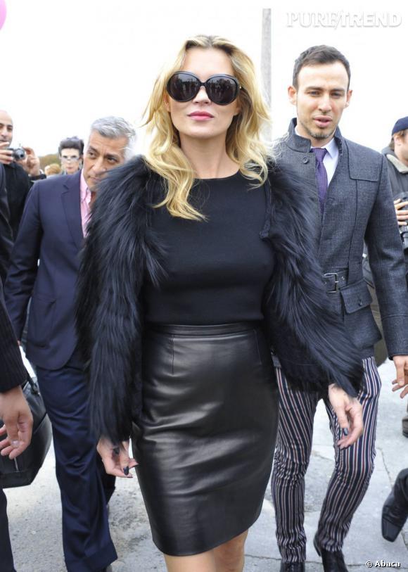 Kate Moss, Dior Addict Lipstick en 2011.