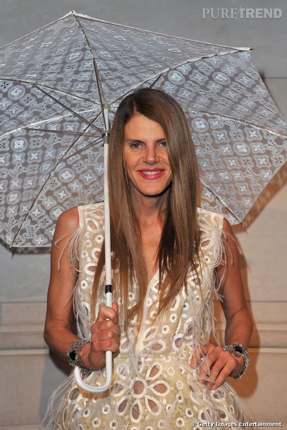 Anna Dello Russo au vernissage de l'exposition Louis Vuitton et Marc Jacobs au Musée des Arts Déco.