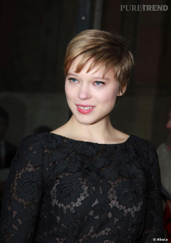 L a seydoux coupe court puretrend for Lea michele coupe de cheveux