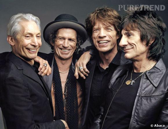 Les Rolling Stones : Charlie Watts, Keith Richards, Mick Jagger, Ron Wood.  Ages : respectivement 70, 68, 68, 64 ans. Dont 50, 50, 51 et 48 ans de carrière.