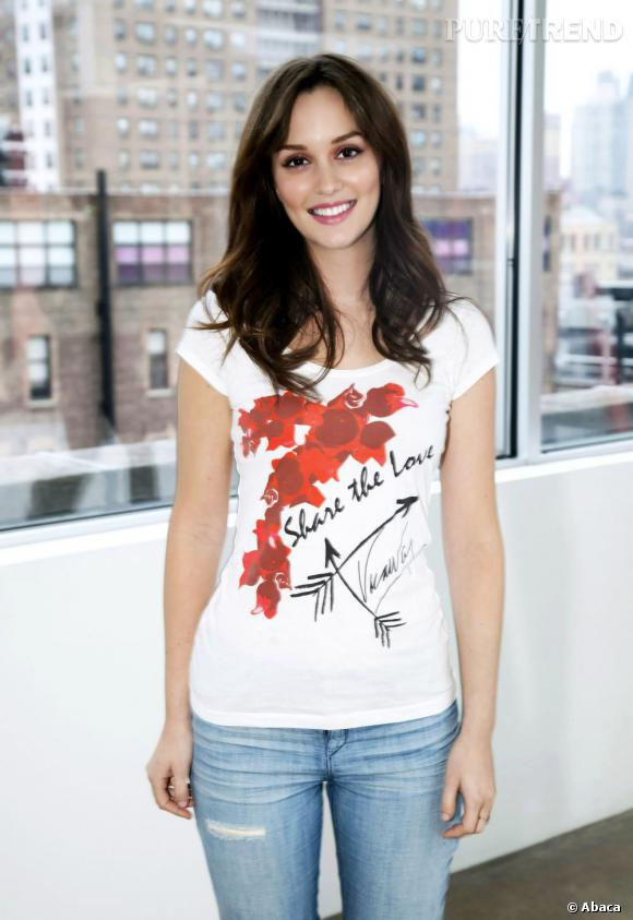 Leighton Meester chez getswabbed.org pour la campagne DKMS de lutte contre la leucémie à New York.