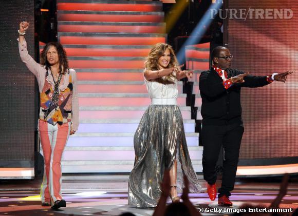 Jennifer Lopez sur le plateau d'American Idol à Hollywood.