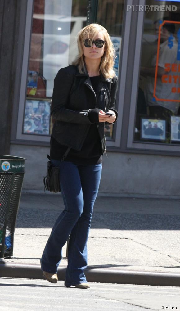 Olivia Wilde, une jolie blonde dans les rues de New York.