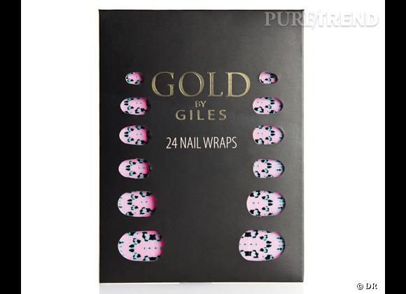 Le coup de coeur de Clémentine    Stickers pour ongles Gold by Giles chez New Look, 7,99 €