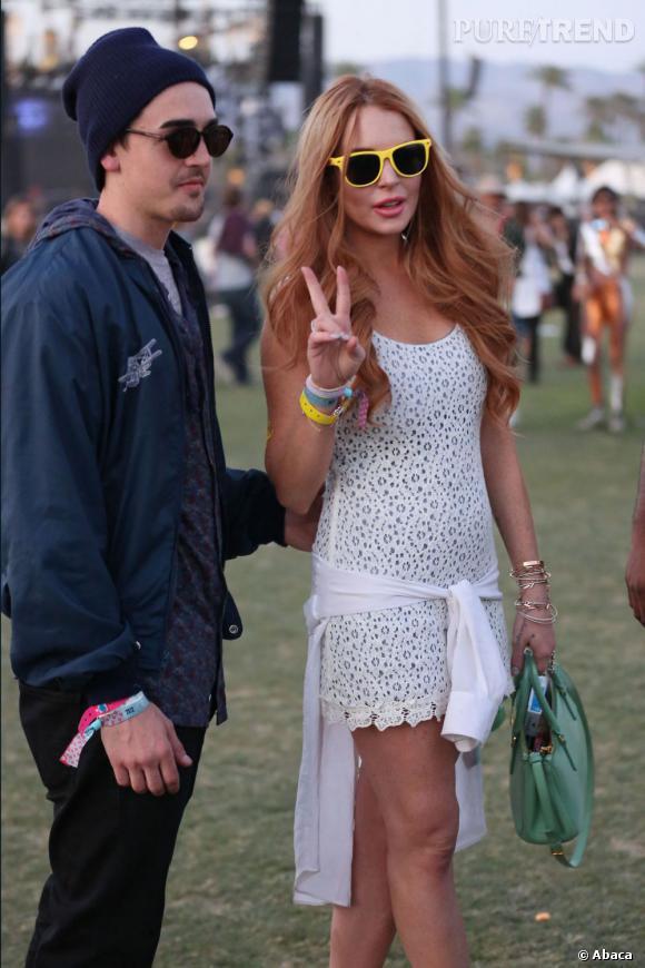 Lindsay Lohan au festival de Coachella.