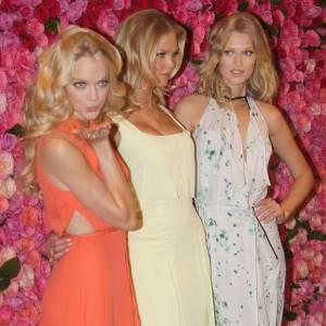 Lindsay Ellingson, Erin Heatherton et Toni Garn pour le lancement de la nouvelle collection à la boutique de Soho.