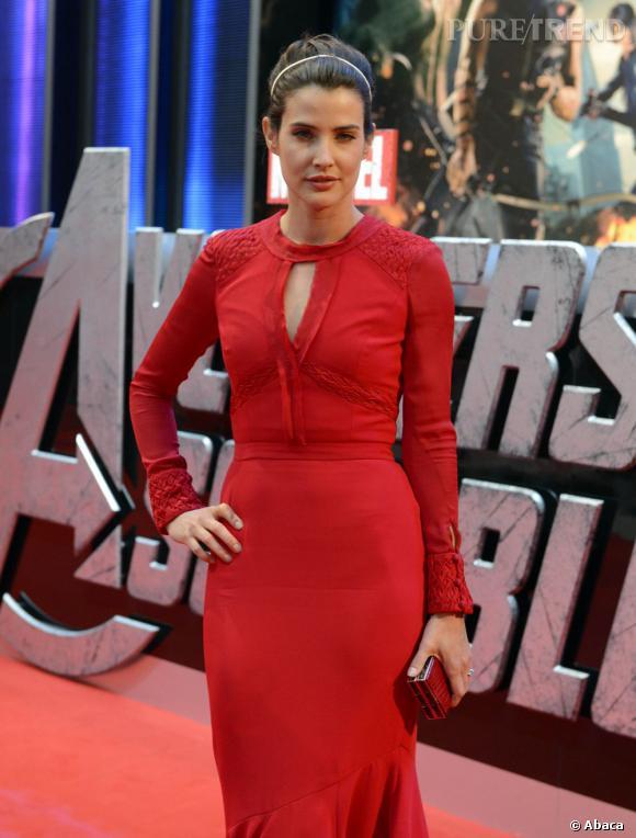 """Cobie Smulders à la première de """"Avengers"""" à Londres."""