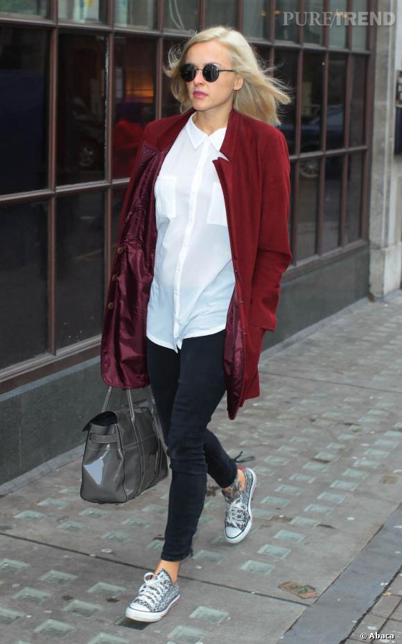 Fearne Cotton, sans-faute mode dans les rues de Londres.