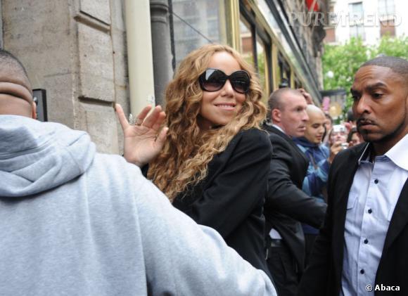 Mariah Carey à Paris.
