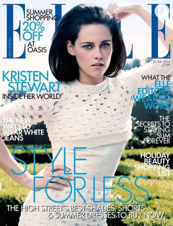 Kristen Stewart pose pour le Elle Uk du mois de juin.