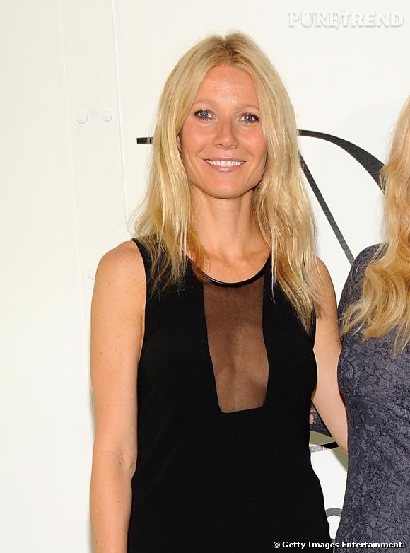 """Gwyneth Paltrow lors de la première de la série """"The conversation"""" organisée par Diane Von Furstenberg à New York."""