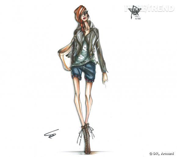Collection Rihanna pour Armani, printemps 2012.