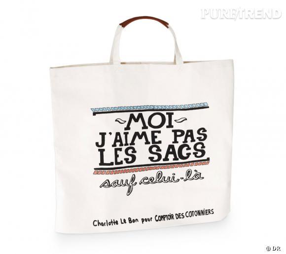 Charlotte Le Bon imagine un sac pour Comptoir des Cotonniers.
