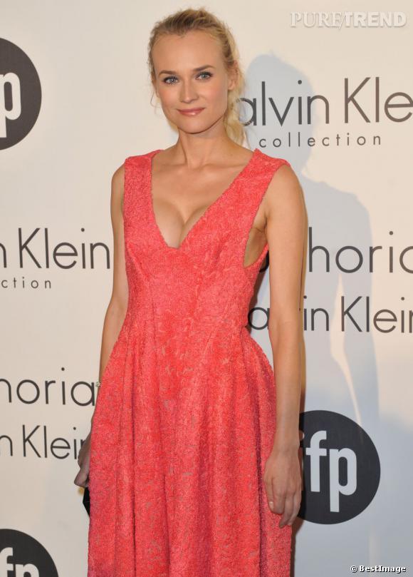 Diane Kruger : vrais !  Pour avoir une poitrine à faire tourner les têtes il n'est pas nécessaire de passer par l'étape scalpel il suffit d'avoir un bon soutien-gorge comme Diane Kruger.
