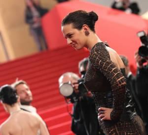 Asia Argento toute de croco vêtue en Givenchy Haute Couture.