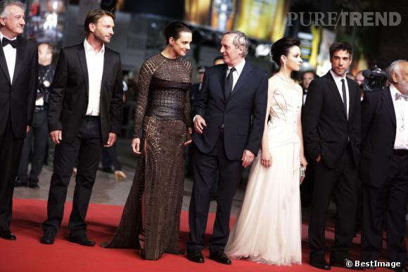 """Asia et Dario Argento montent les marches pour """"Dracula 3D""""."""