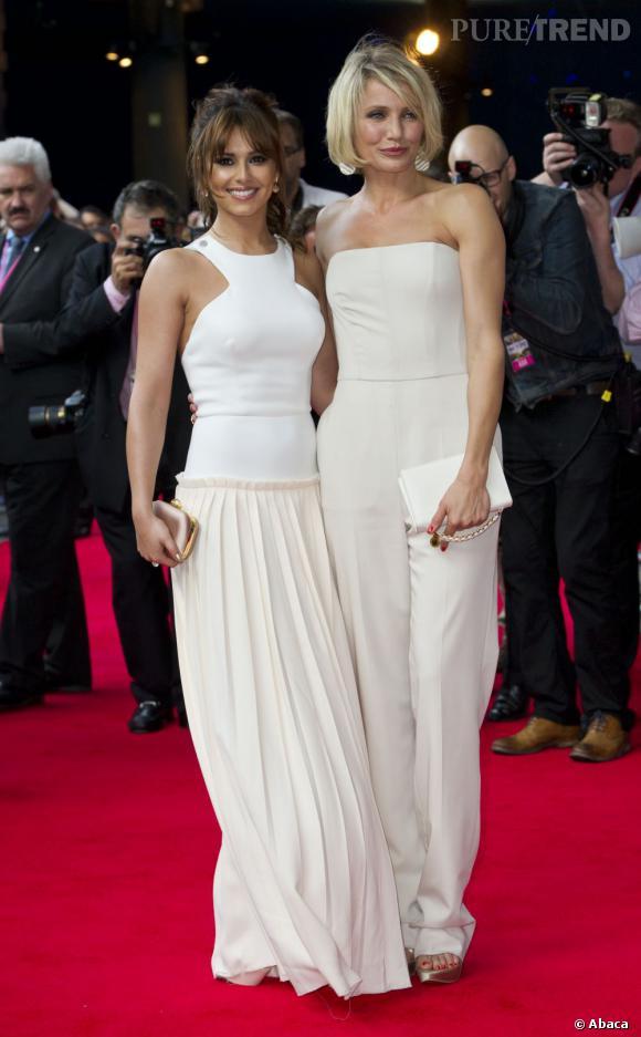 Cameron Diaz aux côtés de Cheryl Cole en Victoria Beckham ce soir-là.