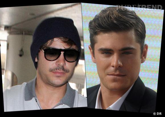 Zac Efron, avec ou sans moustache ? Choisisez votre camp mesdames !