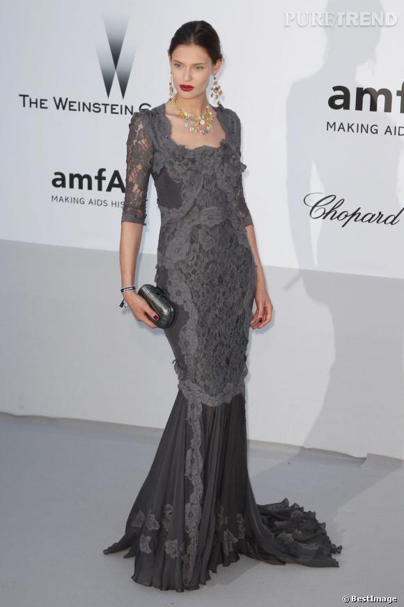 Bianca Balti lors de la soirée AmfAR 2012 le 24 mai.