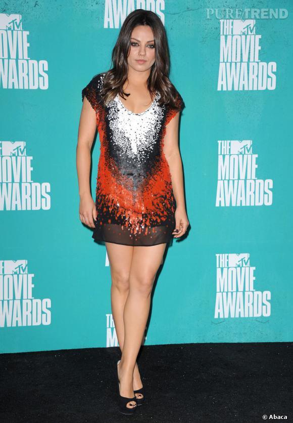 Mila Kunis au 2012 MTV Movie Awards le 3 juin en Californie.