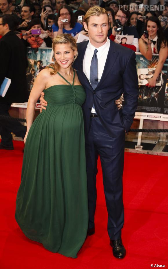 Chris Hemsworth et sa compagne de l'actrice Elsa Pataky, sa girlfriend depuis 2010.