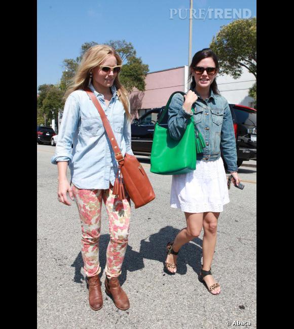 Kristen Bell et Rachel Bilson profitent d'une après-midi entre copines pour aller faire un peu de shopping