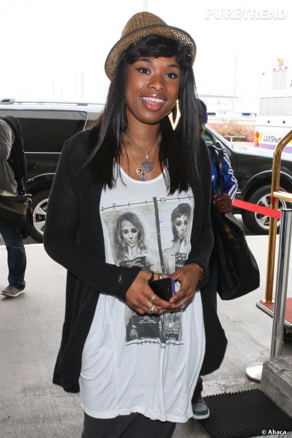 Jennifer Hudson à l'aéroport de Los Angeles.