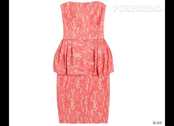 Comme les stars succombez à la tendance peplum !          Robe bustier Zara, 69,95 €