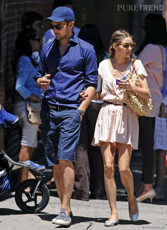 Olivia Palermo et Johannes Huebl dans les rues de New York le 23 juin.