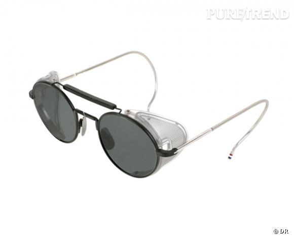 Comme les stars osez la tendance lunettes rondes      Lunettes de soleil Thom Browne, 800 €
