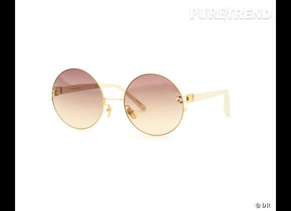 Comme les stars osez la tendance lunettes rondes      Lunettes de soleil Linda Farrow Luxe, 540 €