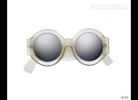 Comme les stars osez la tendance lunettes rondes      Lunettes de soleil Acne, 300 €