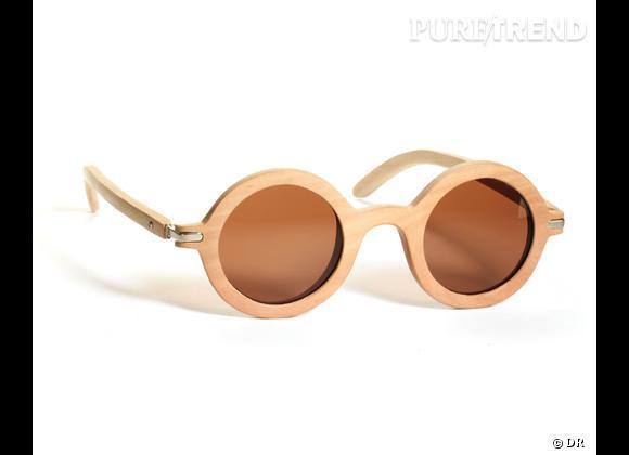 Comme les stars osez la tendance lunettes rondes       Lunettes de soleil Wainting for the Sun, 130 €