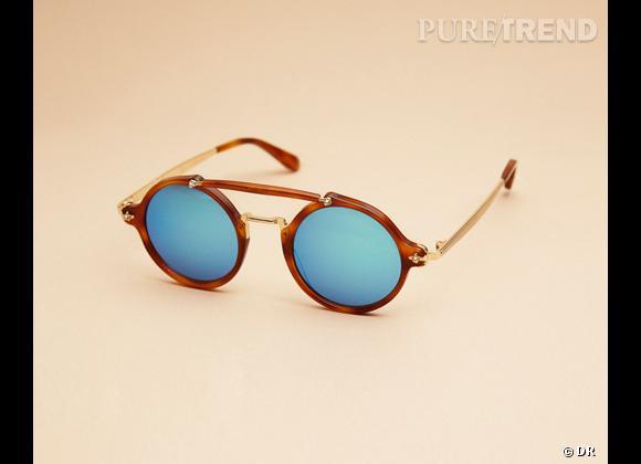 Comme les stars osez la tendance lunettes rondes Lunettes de soleil Trussardi, 309 €