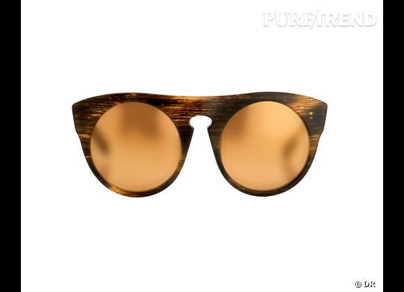 Comme les stars osez la tendance lunettes rondes      Lunettes de soleil Alexander Wang by Linda Farrow, 275 €