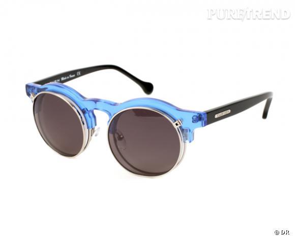 Comme les stars osez la tendance lunettes rondes      Lunettes de soleil Carven x colette, 290 €
