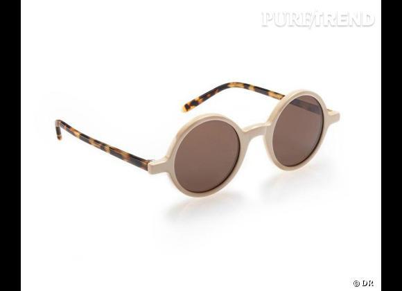 Comme les stars osez la tendance lunettes rondes      Lunettes de soleil Sky Eyes, 59 €