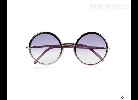 Comme les stars osez la tendance lunettes rondes      Lunettes de soleil Cutler and Gross, 380 € sur  www.net-a-porter.com