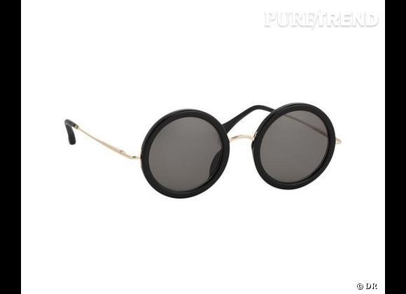 Comme les stars osez la tendance lunettes rondes       Lunettes de soleil The Row x Linda Farrow, environ 300 €