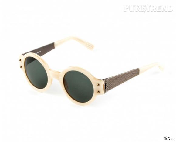 Comme les stars osez la tendance lunettes rondes      Lunettes de soleil Lanvin, 290 €