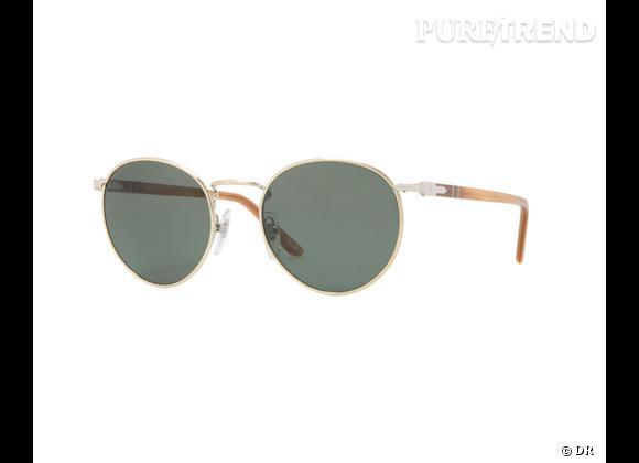 Comme les stars osez la tendance lunettes rondes      Lunettes de soleil Persol, 147 €