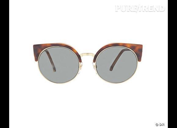 Comme les stars osez la tendance lunettes rondes      Lunettes de soleil retro Super Future, 188 €