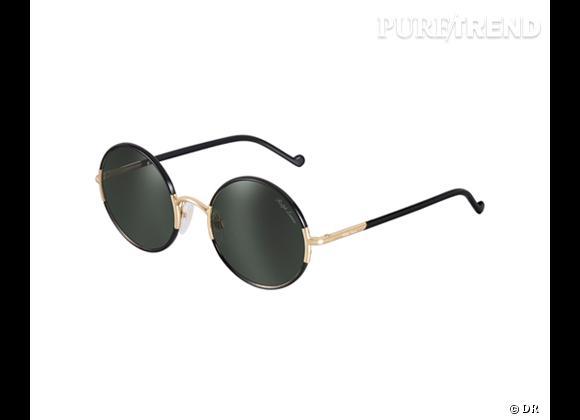 Comme les stars osez la tendance lunettes rondes      Lunettes de soleil Ralph Lauren, 172 €