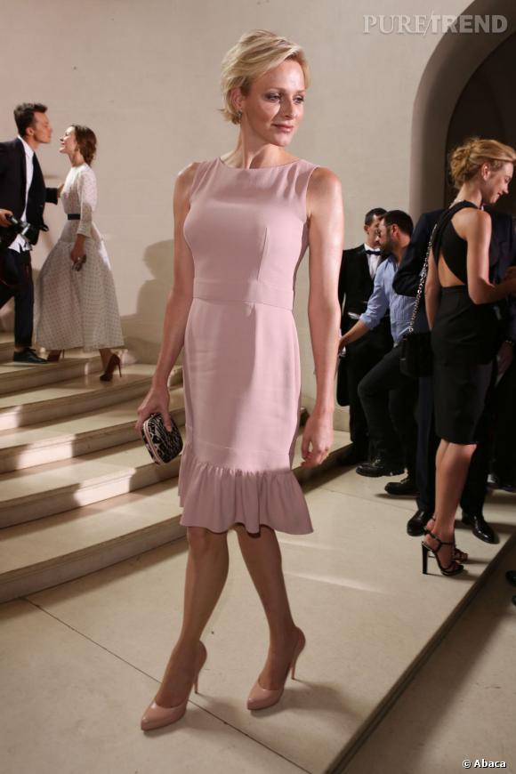Cette année, Charlene Wittstock mise sur l'élégance au défilé Christian Dior.