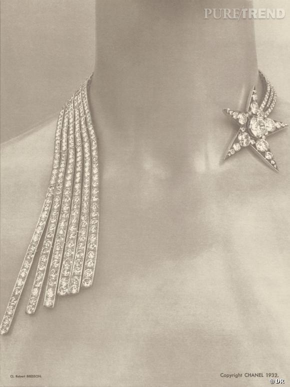 """Exposition des """"Bijoux de Diamants"""" créées par Chanel. Novembre 1932."""