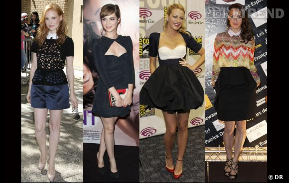 Jessica Chastain, Louise Bourgoin, Blake Lively, Bérénice Bejo en Carven.