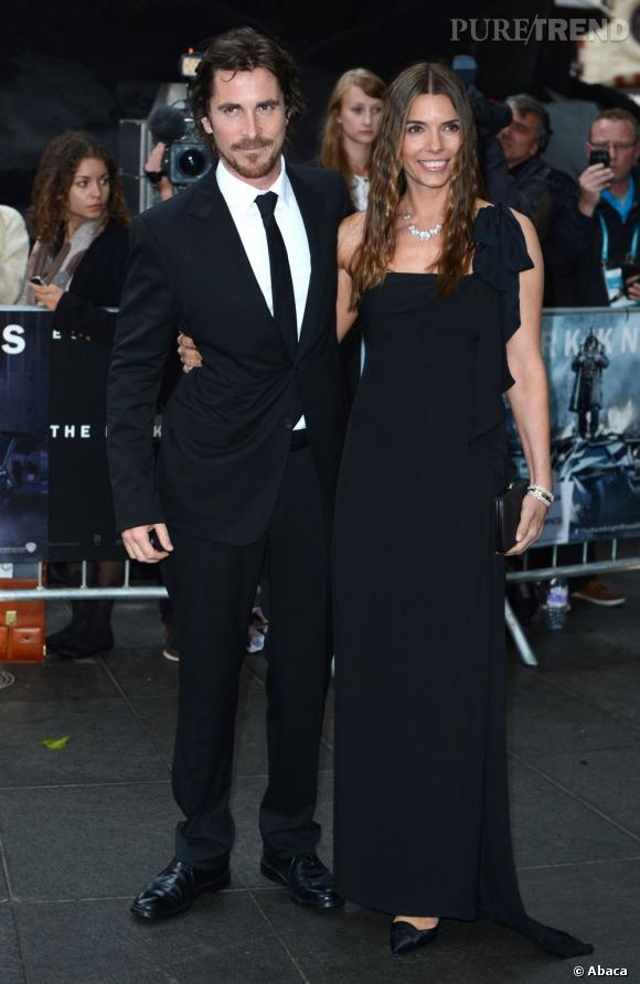 Christian Bale en Gucci et sa femme Sandra Blažić.