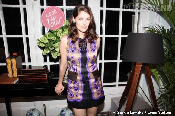"""Laetitia Casta à la soirée d'ouverture de la """"Maison Louis Vuitton"""" au Plaza 66 à Shanghai."""