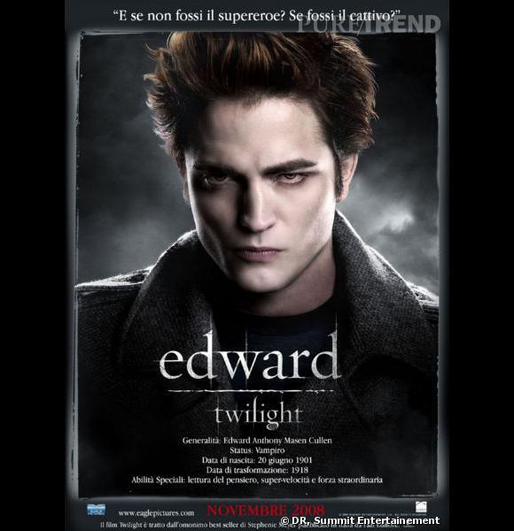 Robert Pattinson dans le premier volet de la saga Twilight.