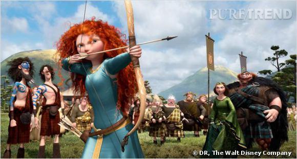 Rebelle est la première héroïnes Disney à porter une crinière sauvage. Au menu : cascade de boucles et cheveux de feu.